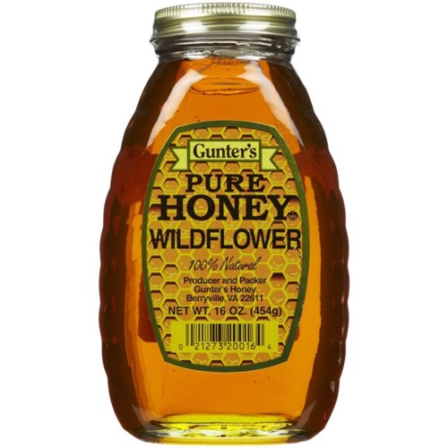Honey Wild Flower GUNTER Honey 16 oz x 12