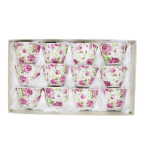 Coffee Cup No Handle with white  Floral design x