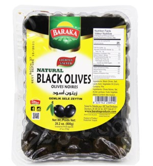 Olives Natural Lightly Salted  Black  in Tray Geml