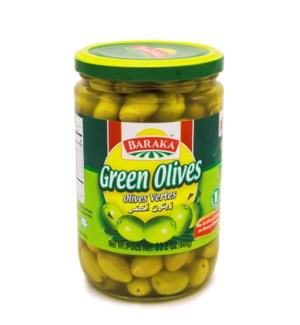"Olives Green ""Baraka"" 660g x 12"