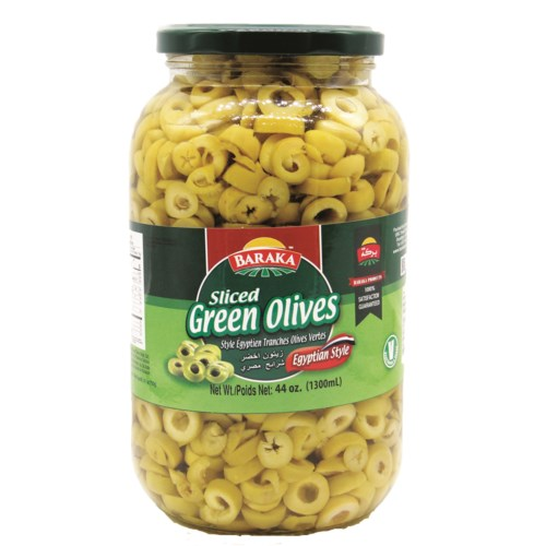 "Olives Sliced Green in glass jar ""Baraka"" 1300g x"