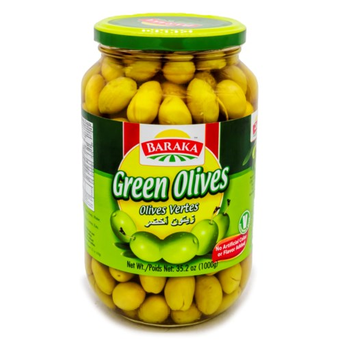 "Olives Green""Baraka"" 1000 g x 12"
