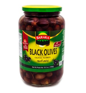 "Olives Black In Jar ""Baraka"" 1000g x 12"