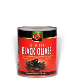 "Olives Black Sliced in Tin ""Royal Chef"" 5.92 Lbs *"