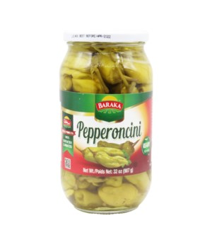 "Pickled Pepperoncini ""Baraka"" in glass jar 32 oz *"