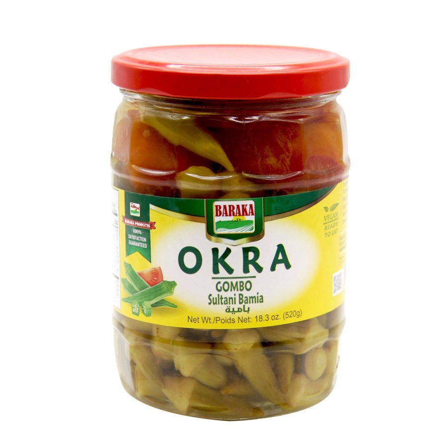 "Okra in Jars ""BARAKA"" 520 mL * 12"