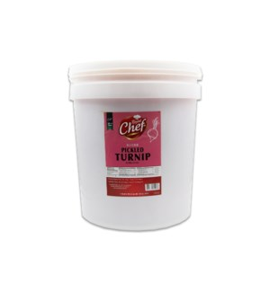 "Pickled Turnips pail ""ROYAL CHEF"" 22 Lbs"