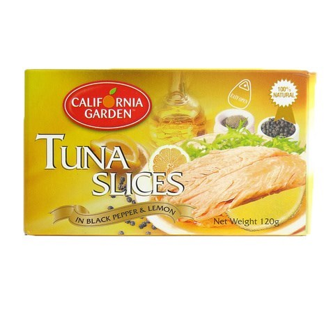 "Tuna Lemon and Pepper Sliced "" California Garden"""