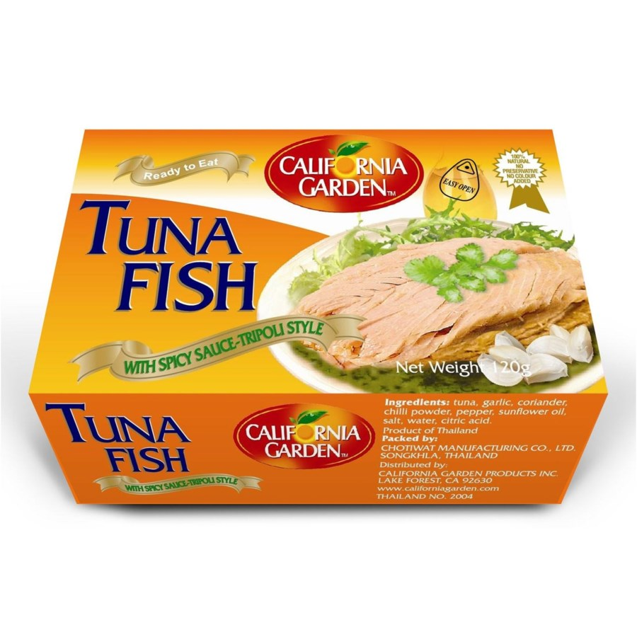"Tuna Tripoli Style Sliced "" California Garden"" 120"