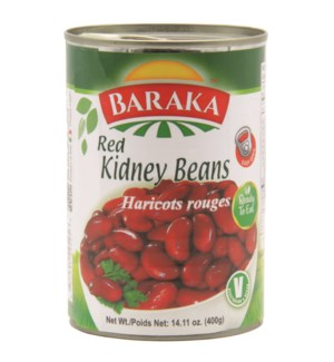 "Canned Red Kidney Beans Can ""Baraka"" 14 oz x 24"