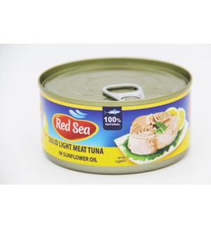 "Tuna Solid  in sunflower oil ""Red Sea"" 185g * 48"