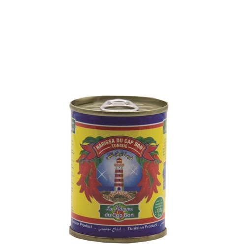"Harissa Hot Sauce in cans ""La Flamme"" 135g x 48"