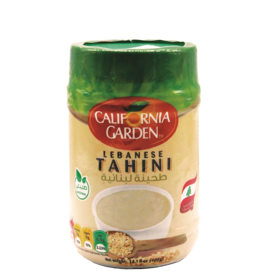 "Tahini All Natural ""CALIFORNIA GARDEN"" 400g * 12"