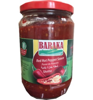 "Red Hot Pepper Sauce (Shatta) ""Baraka"" 690g x 12"