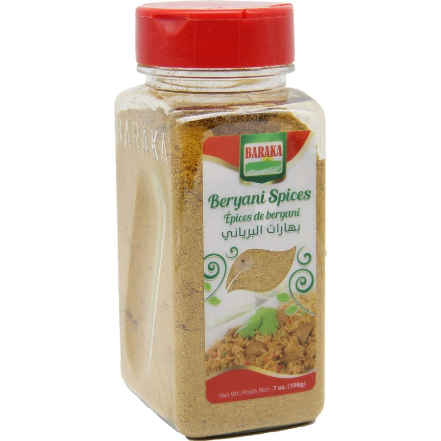 "Beryani  Spices in plastic tub ""Baraka"" packed 7oz"