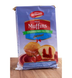 Wellmade Strawberry Filled Muffins 220g * 16