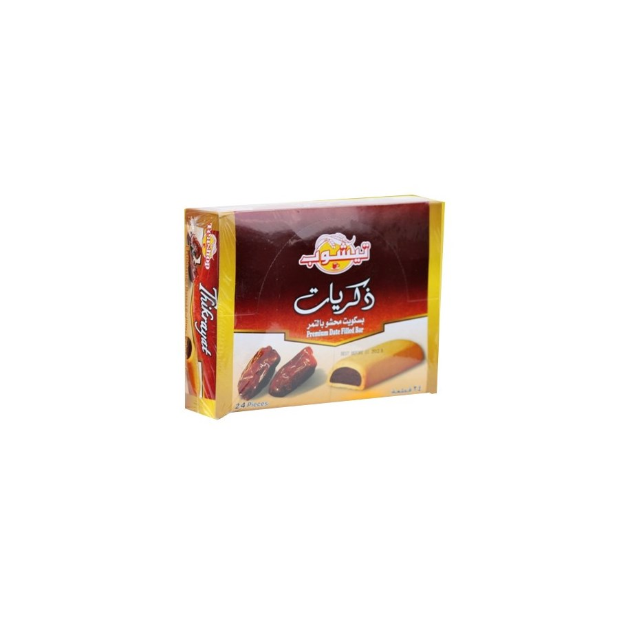 "Memories Thikrayat Dates Bars ""TEASHOP"" (26 g x 24"