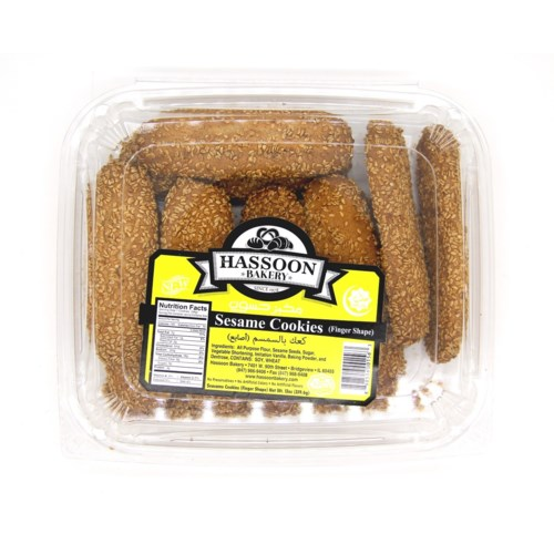 Sesame Cookies FINGER  Hassoun Bakery 12 oz x 20