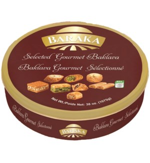 "Selected Baklawa Assorted Tin ""Baraka"" 850g x 12"