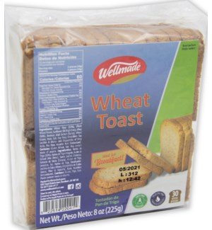 "Whole Wheat Toast ""Wellmade"" 8 oz x 24"