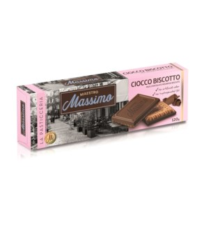 Cookies Coated Milk Chocolate MAESTRO MASSIMO 120g