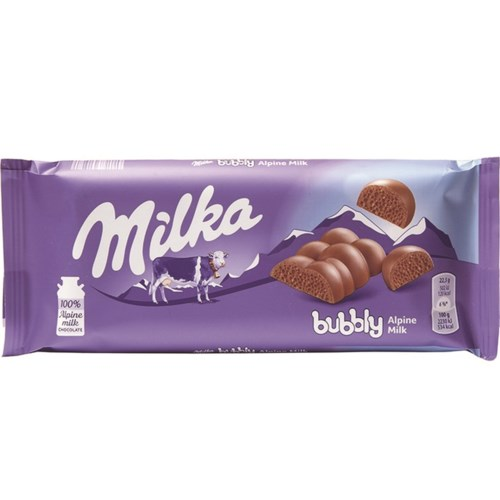 Milka Bubbly Milk 90g * 14