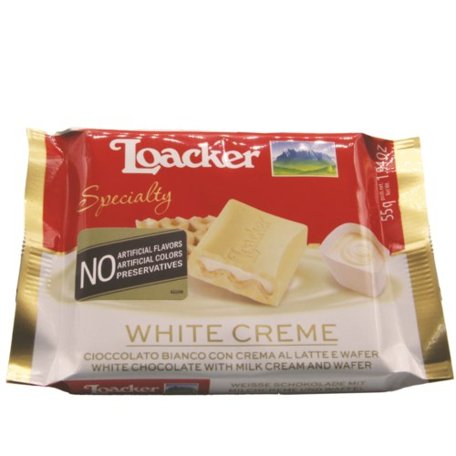 Loacker Chocolate Bar Specialty 55gx12 White Creme