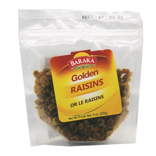 "Golden Raisins in  Pouch 8  ""Baraka"" packed 255g *"