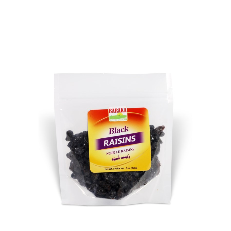 "Black Raisins in Pouch 8 ""Baraka packed 255g * 10"