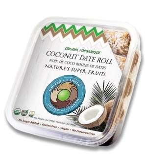 "Coconut Date Rolls ""UNITED with EARTH"" 12 oz * 12"