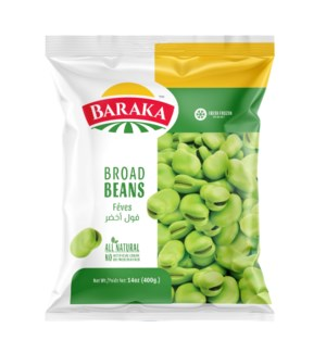 "Frozen Green Broad Beans  ""Baraka"" 400 GM X 20"