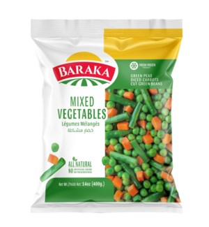 "Frozen Mixed Vegetables ""Baraka""  400g x 20"