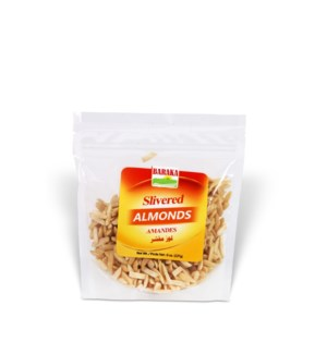 "Slivered Blanched Almonds in pouch 8 ""Baraka"" pack"