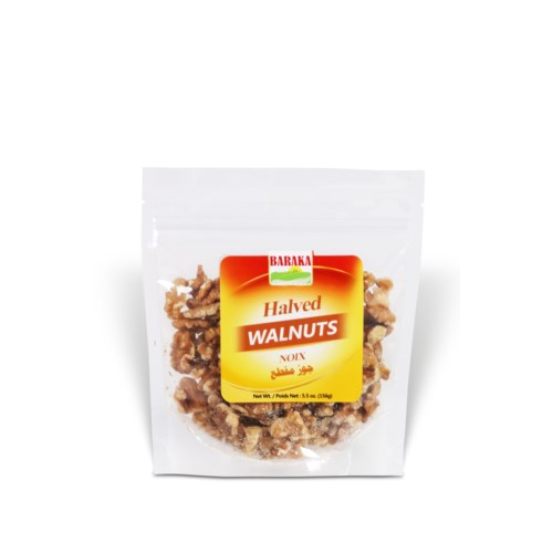 "Halved Walnuts in pouch 8 ""Baraka"" packed 156g * 1"