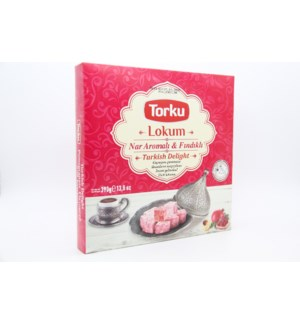 TORKU TURKISH DELIGHT WITH POMEGRANATE FLAV&HAZELN