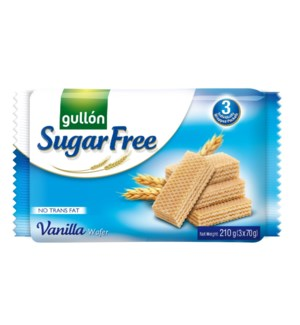 "Vanilla Sugar Free wafers ""Gullon"" 210g * 12"