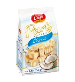 Lago Party Wafers Bags - COCONUT 250 g * 10