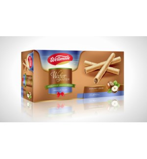 Hazelnut Wafer Roll Box WELLMADE 90g * 24