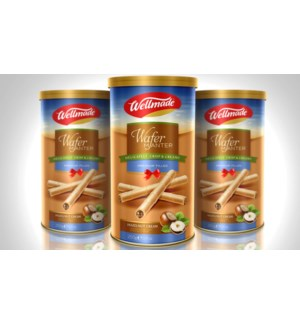 Hazelnut Wafer Roll Tin WELLMADE 250g * 12