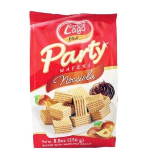 Lago Party Wafers Bags -  HAZELNUT 250 g * 10