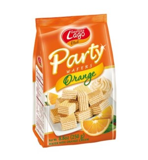 Lago Party Wafers Bags -  ORANGE 250 g * 10