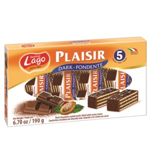 "Dark Plaisir Wafers  Multi Pack ""Lago"" 38g x 5 x 1"