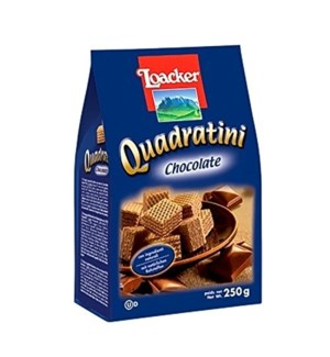 Loacker Wafers, Quadratini 250gx6 CHOCOLATE