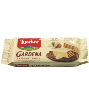 Loacker Gardena Hazelnut/ White Wafer 38gx25