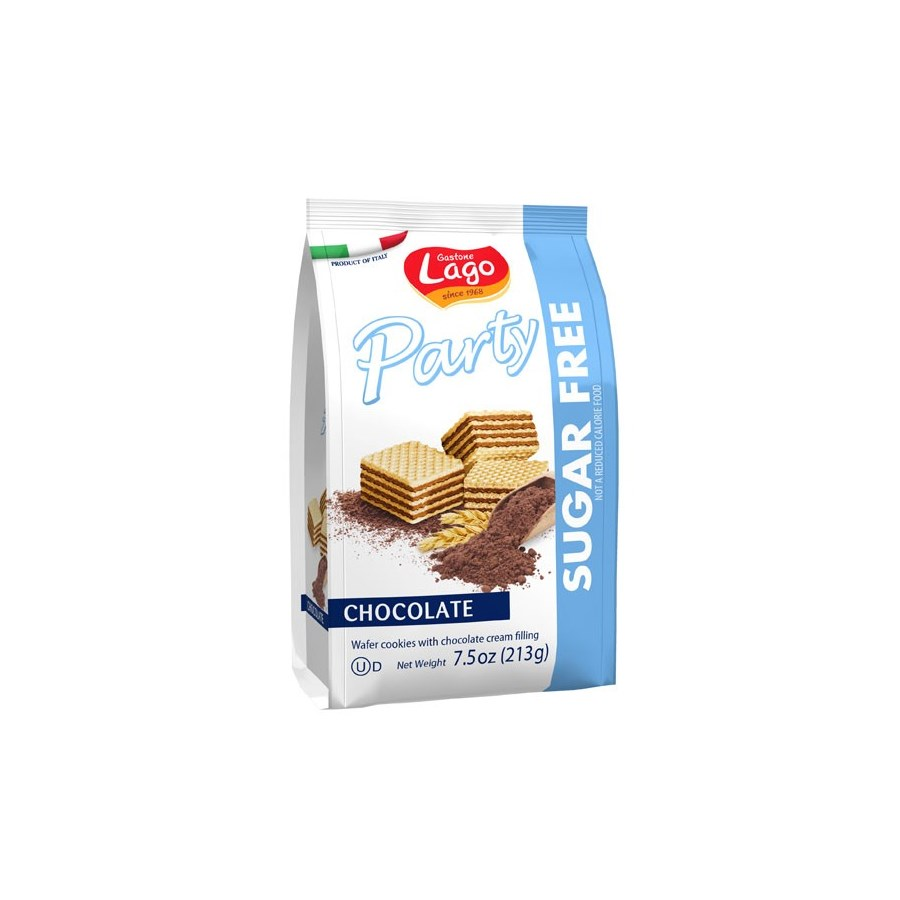 Lago Party Sugar-Free Wafers Bags -  CHOCOLATE 213