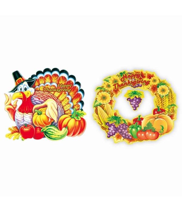 thanksgiving 3D cutout 12/144s