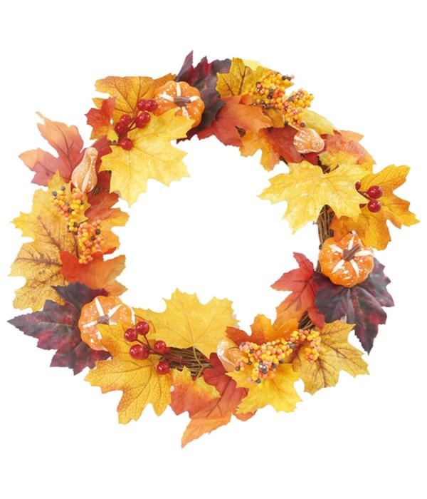 "20""/50cm thxgiving wreath 12s"
