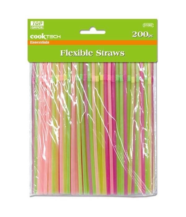 200ct flexible straws 48s