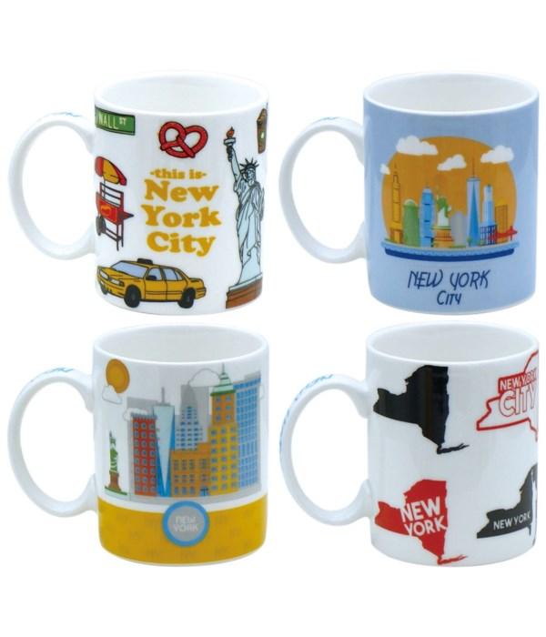 ceramic mug NY 12oz/48s