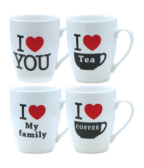 """ceramic """"love"""" mug 12oz/48s"""